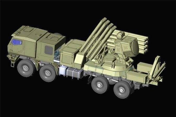 Pantsir-SM cua Nga mang gan 100 ten lua danh chan: Sat thu UAV chinh hieu-Hinh-7