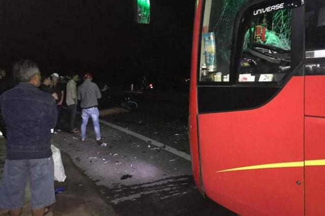 Hiện trường vụ tai nạn nghiêm trọng (ảnh CTV)