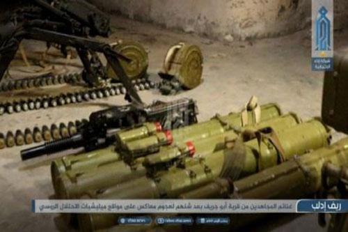 Vũ khí HTS thu được từ SAA.