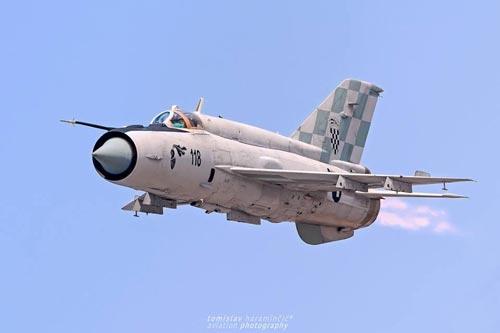 Văn phòng báo chí chính phủ Croatia ngày 16/1 công bố thông tin, các lực lượng vũ trang Cộng hòa Croatia đang nỗ lực hết sức thay thế máy bay tiêm kích MiG-21 bằng nền tảng chiến đấu trên không mới. Ảnh: Tomislav Haramincic Aviation