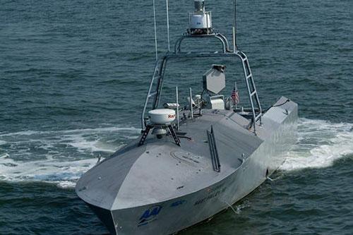 Một chiếc tàu không người lái như này trước mắt có thể được dùng để rà phá thủy lôi. Ảnh: US Navy.