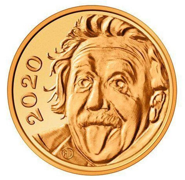 Chết cười xem Einstein lè lưỡi trên đồng vàng nhỏ nhất thế giới - 1