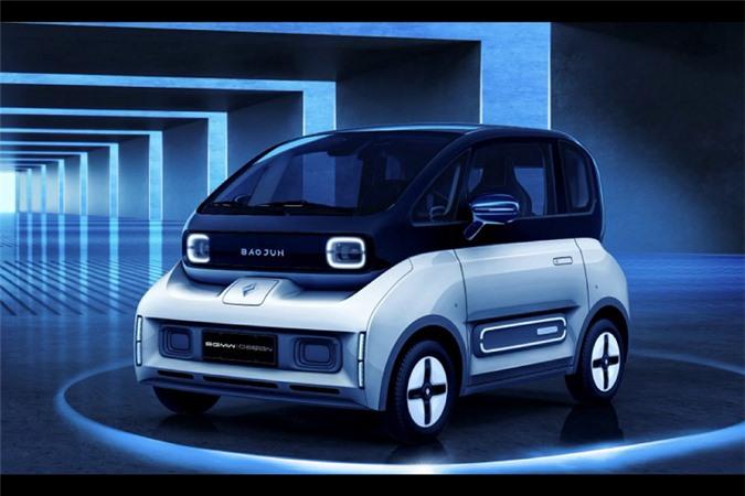 Chi tiet oto dien Baojun E300 2020 chi tu 200 trieu dong-Hinh-5
