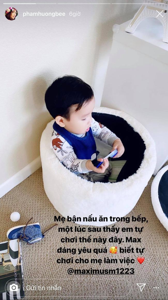 Maximus con trai Phạm Hương qua lời kể của cô là một cậu bé rất ngoan ngoãn, có ý thức dù mới hơn 1 tuổi.