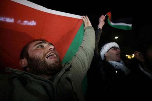 Người dân Palestine phản đối Kế hoạch hòa bình Trung Đông của Mỹ. (Ảnh: Reuters)