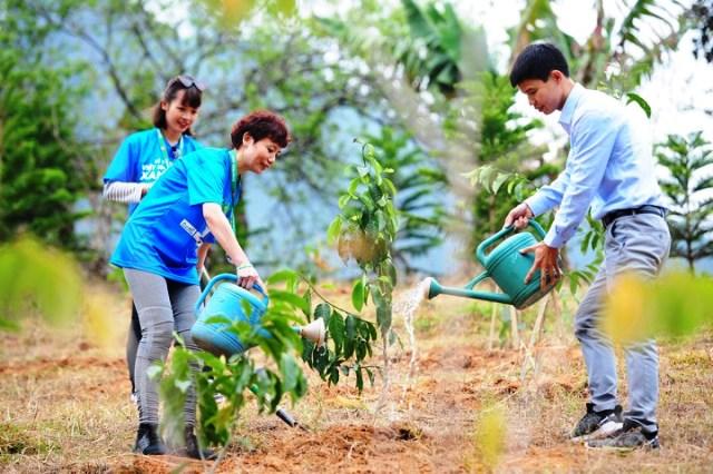 """Được biết chương trình Lễ phát động Tết trồng cây """"Đời đời nhớ ơn Bác Hồ"""" Xuân Canh Tý năm 2020 có sự hỗ trợ của Công ty TNHH Khu Du Lịch Vịnh Thiên Đường (ALMA)."""