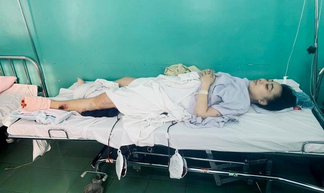 Chị Hường được bác sĩ Bệnh viện 175 phẩu thuật thành công các vết thương
