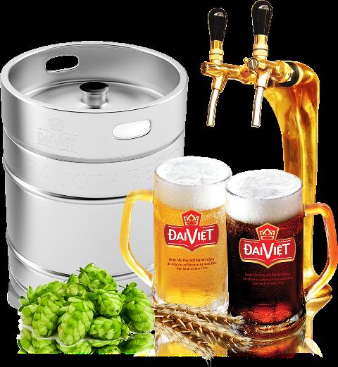 Bia Đại Việt được người tiêu dùng ưu chuộng.