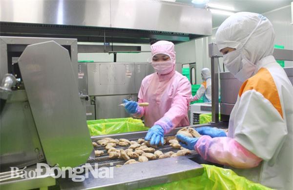 Công ty TNHH Koyu & Unitek ở Khu công nghiệp Loteco (TP.Biên Hòa) liên kết đầu tư chế biến thịt gà xuất khẩu vào Nhật Bản Ảnh: K.MINH