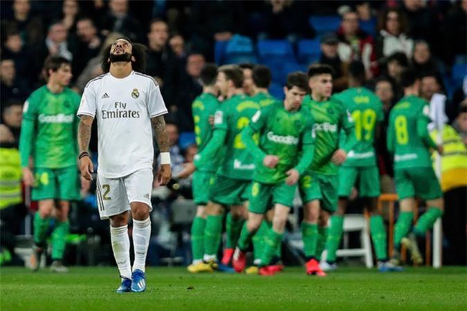 Marcelo ghi 1 bàn nhưng không đủ để giúp Real thoát thua trước Sociedad