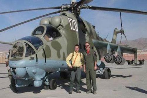 Trực thăng Mi-24 xuất hiện tại Mỹ.