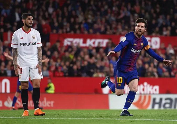 Messi rất có duyên với mành lưới Sevilla