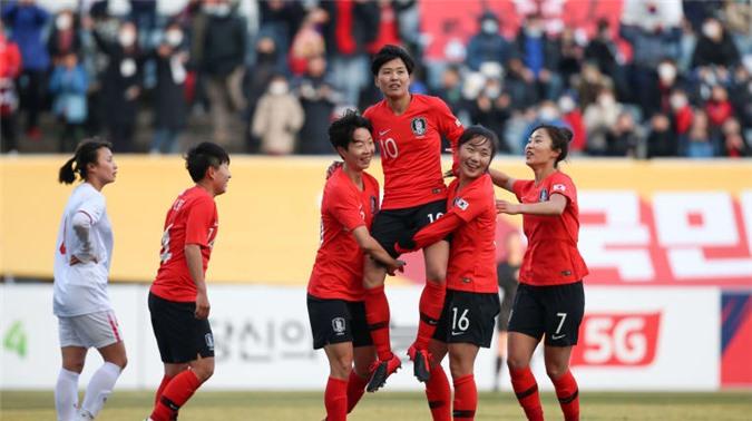 Việt Nam đã có trận đấu đầy nỗ lực dù thất bại với tỷ số 0-3 trước Hàn Quốc - Ảnh: AFC