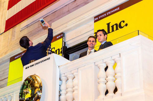 Evan Spiegel chính thức trở thành tỷ phú USD vào tháng 3/2017 sau khi Snap IPO thành công. Ảnh: Business Insider.