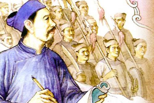 """Nguyễn Trãi - bậc kỳ tài """"đánh giặc bằng bút"""". Ảnh: Tư liệu."""