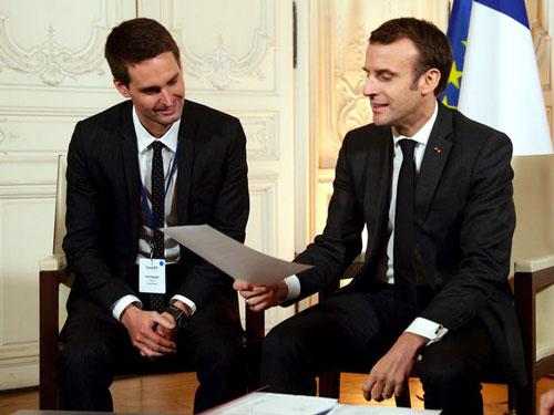 Phát ngôn viên của Snap cho biết Evan Spiegel rất yêu nước Pháp. Đến năm 2018, anh sở hữu quốc tịch của đất nước này. Ảnh: AP.