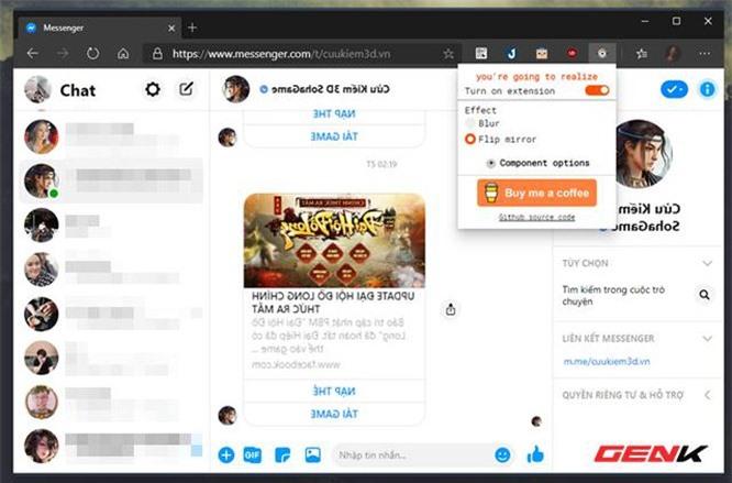 Thủ thuật đơn giản giúp tránh bị xem lén tin nhắn Facebook trên Google Chrome - ảnh 3