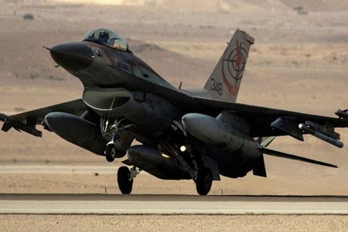 Máy bay tiêm kích F-16 của Israel.