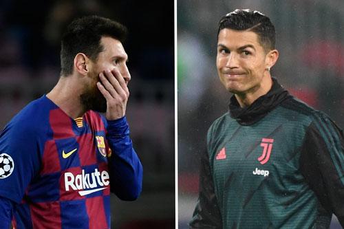 Messi và Ronaldo (phải).