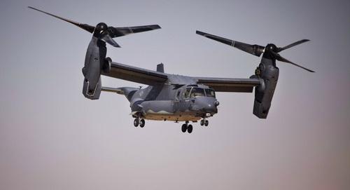 Máy bay vận tải cánh quạt lật V-22 Osprey. Ảnh: TsAMTO.