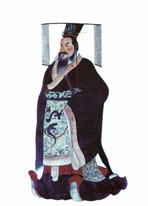 Bức họa cổ về Tần Thủy Hoàng