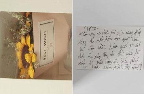 Jack viết thư tay tặng mẹ dịp Valentine.