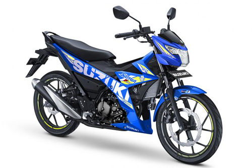 Suzuki Satria màu xanh GP.