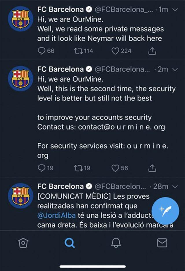 Tin tặc trêu tức Barca