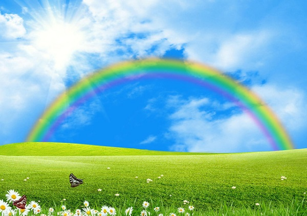 Nhìn thấy cầu vòng sau mưa đó là dấu hiệu của sự may mắn