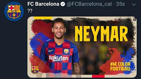 Trang chủ của Barcelona bị hack, phanh phui vụ mua Neymar