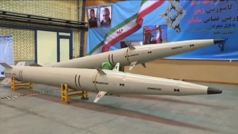 Tên lửa đạn đạo mới của Iran Ra'd-500 có tầm bắn 500 km. (Ảnh: RT)