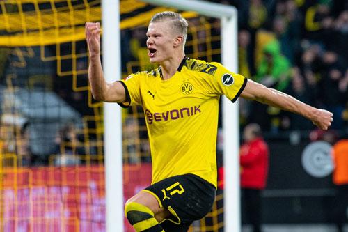 1. Erling Haaland (Borussia Dortmund, giá trị hiện nay: 60 triệu euro, mức tăng: 55 triệu euro).
