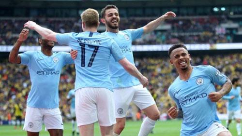Manchester City đang giữ ngôi đầu trong những CLB có giá trị đội hình đắt nhất thế giới