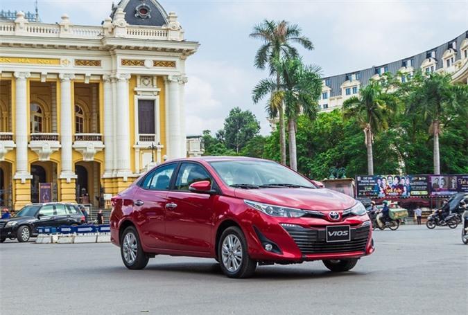 Doanh số Toyota Vios tháng 1/2020 là 1.598 chiếc