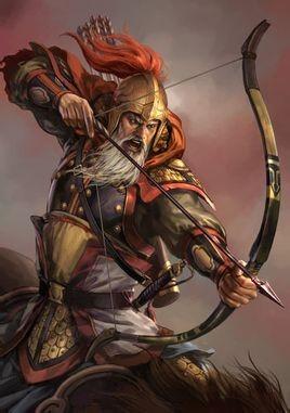 Hoàng Trung có tài bắn tên thiện nghệ.