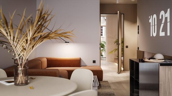 Đây là một số nội thất trong căn hộ 50.5m2 ở Rotterdam, Hà Lan.