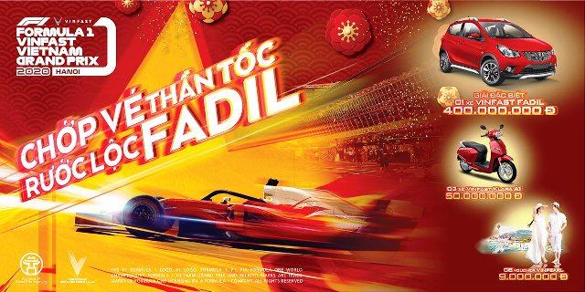 Chớp vé thần tốc, rước lộc xe VinFast Fadil trị giá 400 triệu đồng