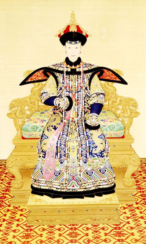 Tranh vẽ Hiếu Hiền Thuần hoàng hậu.
