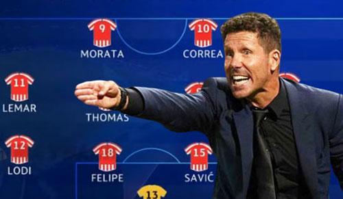Thầy trò HLV Juergen Klopp không thể tìm ra cách phá giải sơ đồ 4-4-2 của Atletico Madrid.