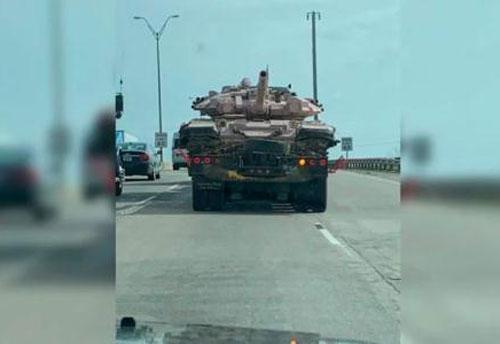 Hình ảnh được cho là chiếc T-90A tại Mỹ.