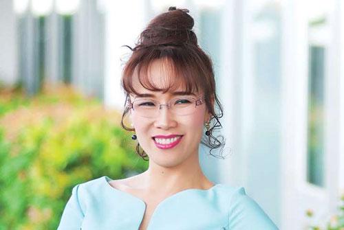 2. Nguyễn Thị Phương Thảo (Tổng giám đốc hãng hàng không Vietjet Air) tổng giá trị tài sản: 2,4 tỉ USD. Ảnh: MSN.com.