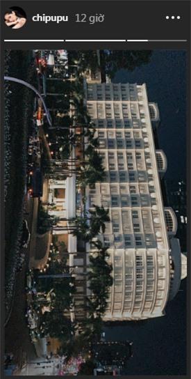 …và Chi Pu cũng đăng tải bức hình đang có mặt ở khách sạn đó. Liệu đây chỉ là sự trùng hợp?