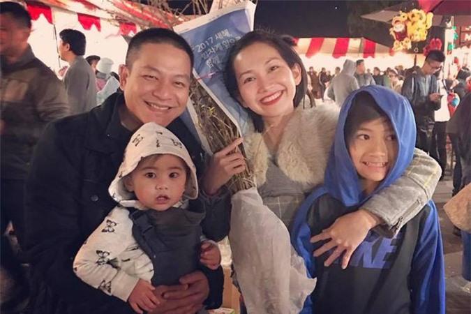 Gia đình 4 thành viên của diễn viên Kim Hiền