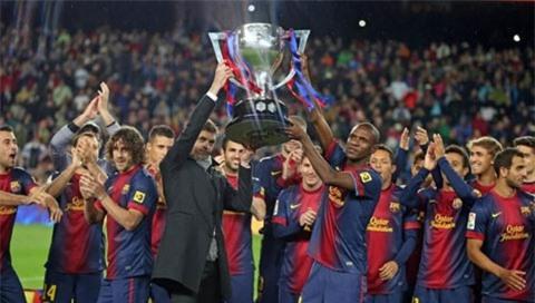 Barca dưới thời cố HLV Vilanova giành 100 điểm tại La Liga