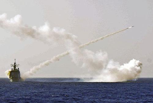 Tàu hải quân Mỹ phóng tên lửa chống hạm