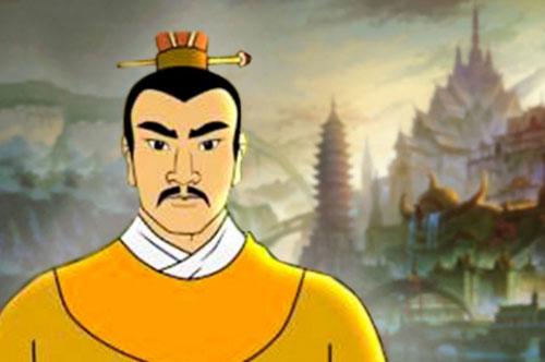 Tranh minh họa vua Lý Thái Tông.