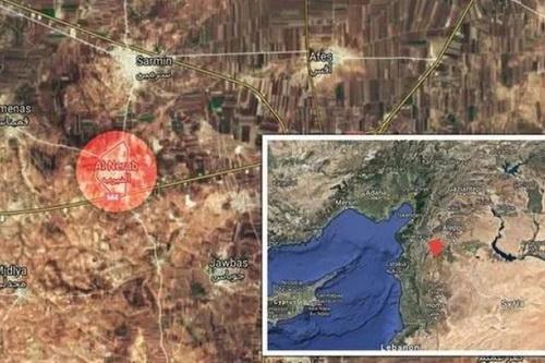 Phe đối lập tuyên bố đã bắn hạ một máy bay trinh sát của Nga. Ảnh: Daily Express.