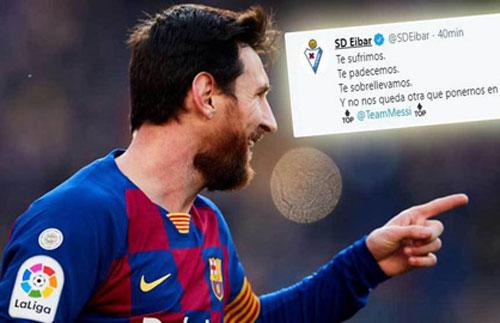 Bị Messi 'đâm' 4 nhát kiếm, đối thủ vẫn công khai chúc mừng