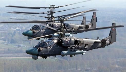 Ka-52 là một trong những trực thăng tiên tiến nhất của Nga hiện nay. Nguồn: Huanqiu.