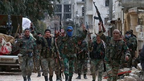 Quân đội Syria đã bị thiệt hại nặng nề từ các cuộc tấn công của phiến quân được Thổ Nhĩ Kỳ hậu thuẫn. Nguồn: news.jxcn.